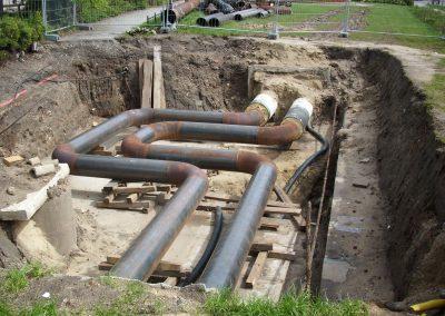 Stahlleitungen im Kanal oder in Schächten
